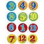 Primary Colors Personalized Baby Milestone Stickers
