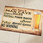 Man Cave Personalized Doormat