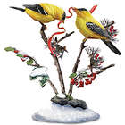 American Goldfinch Songbird Holiday Sculpture