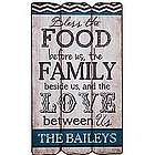 Personalized Bless the Food and Family Plaque