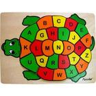Turtle ABCs Raised Wooden Jigsaw Puzzle