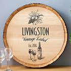 Personalized Vintage Label Wine Barrel Sign