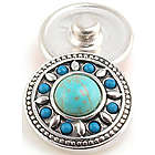 Turquoise and Silver Jewelpop Noosa Charm