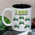 Personalized Dig My Kids Tractor Coffee Mug