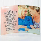 A Mother Personalized Photo Curved Glass Print