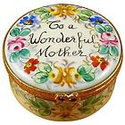 'To A Wonderful Mother' Round Limoges Box
