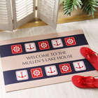 Nautical Sailing Theme Personalized Doormat