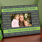 Catch Words Personalized Happy Father's Day Printed Frame