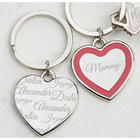Loved By Mom Personalized Heart Key Ring