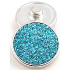 Aqua Blue Cubic Zirconia Jewelpop Chunk Noosa Charm