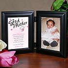 Personalized Count My Blessings Godparent Bi-Fold Picture Frame