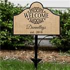 Personalized Welcome Magnetic Yard Sign Set