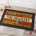 "Personalized Fall Colors Design 20"" x 35"" Doormat"