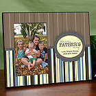 Personalized Father's Day Striped Frame