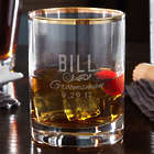 Groomsman's Personalized Classic Gold-Rim Whiskey Glass