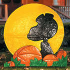 Snoopy Silhouette Outdoor Halloween Decoration