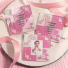 Baby Themed Glass Photo Coaster