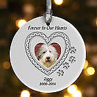 In Loving Memory Personalized Pet Memorial Christmas Ornament