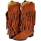 Brown Fringe Cowboy Boots