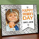 Diamond Plate Personalized Father's Day Frame
