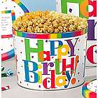 Personalized Big Happy Birthday 4 Flavor Popcorn Gift Tin