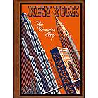 New York City 5 Travel Art Handmade Leather Photo Album