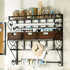 Wall Mounted Craft Storage Rack with Scrollwork Detailing