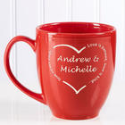 A Heart of Love Personalized Bistro Mug