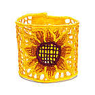 Sunflower Embroidered Bracelet