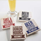 Beer Quotes Personalized Tumbled Stone Coasters