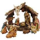 Classic Nativity Scene with Creche