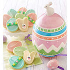 Collector's Edition Easter Egg Cookie Jar with Cookies
