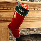 Red Velvet Personalized Christmas Stocking