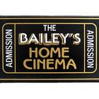 Handcrafted Cinema Ticket Sign