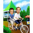 Tandem Bicycle Male Duo Caricature Print from Photos