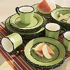 Hand-painted Rimmed Dinnerware Set