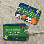 Ready, Set, Score Personalized Luggage Tag Set