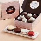 4 Classic Macarons & 18 Assorted Cake Truffles Gift Box