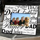 Dad and Father Word-Art Picture Frame