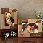 Personalized I Love Thee Wooden Picture Frame
