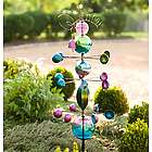 Glass Globes Welcome Garden Stake