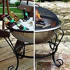 Stainless Steel Beverage Tub & Portable Fire Pit