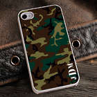 Personalized Camouflage iPhone Case with White Trim
