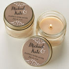 Personalized Rustic Chic Wedding Mason Jar Candle Favors