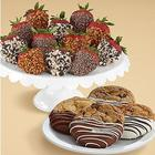 4 Dipped Cookies & 12 Premium Strawberries Gift Box