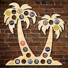 Palm Trees Beer Cap Map