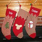 Woven Country Personalized Christmas Stocking