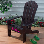 Kid's Personalized Adirondack Chair in Espresso