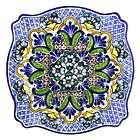Talavera Ceramic Plate, 'Talavera Kaleidoscope'