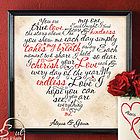 Personalized Valentine Heart Canvas